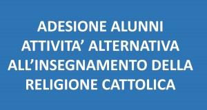 ADESIONE RELIGIONE CATTOLICA